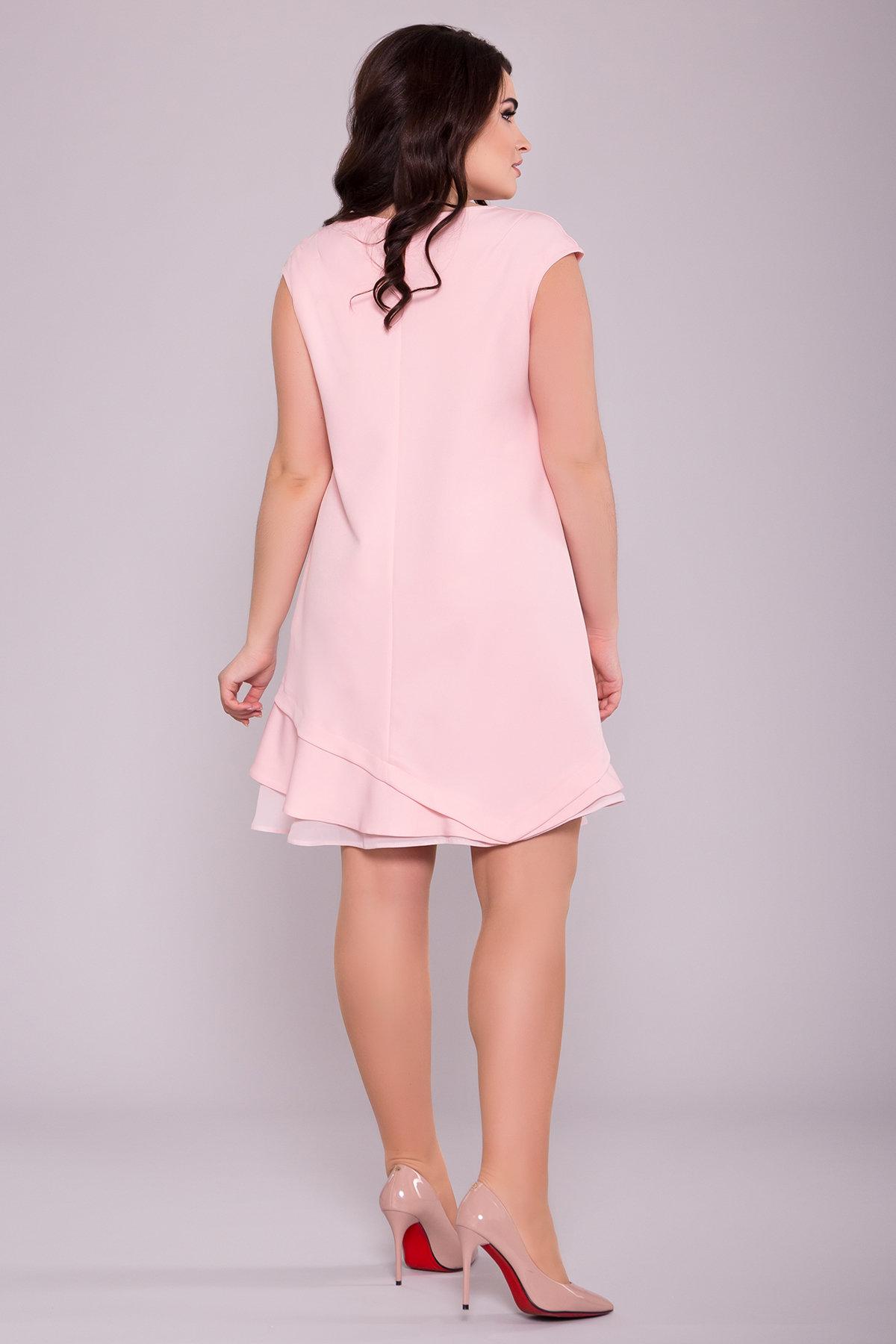 Платье Холли DONNA 6834 АРТ. 42050 Цвет: Пудра 6 - фото 2, интернет магазин tm-modus.ru