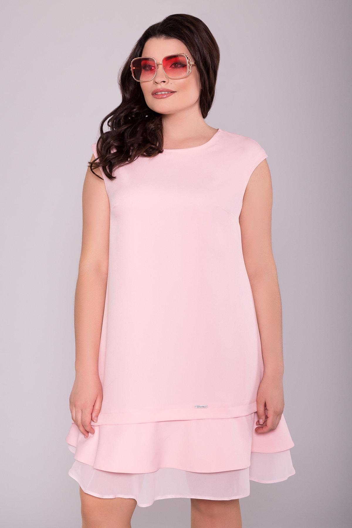 Платье Холли DONNA 6834 АРТ. 42050 Цвет: Пудра 6 - фото 3, интернет магазин tm-modus.ru