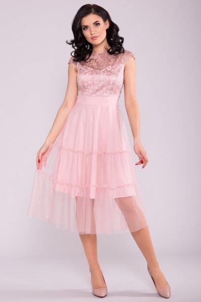 Платье Фати 6490 Цвет: Пудра светлая 11