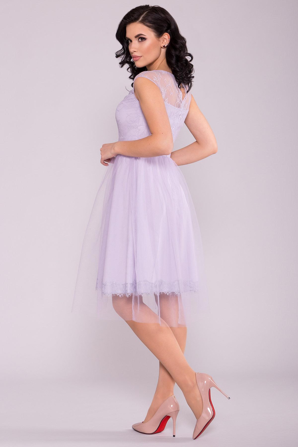 Платье Амур 6872 АРТ. 41986 Цвет: Серо-голубой/серо-голубой - фото 3, интернет магазин tm-modus.ru