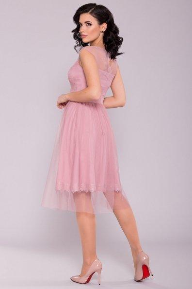 Платье Амур 6872 Цвет: Пудра темная/серо-розовый