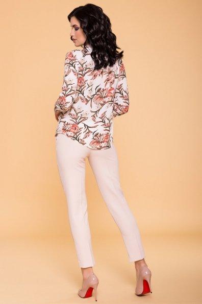 Рубашка Арсела 6790 Цвет: молоко/коралл лилия