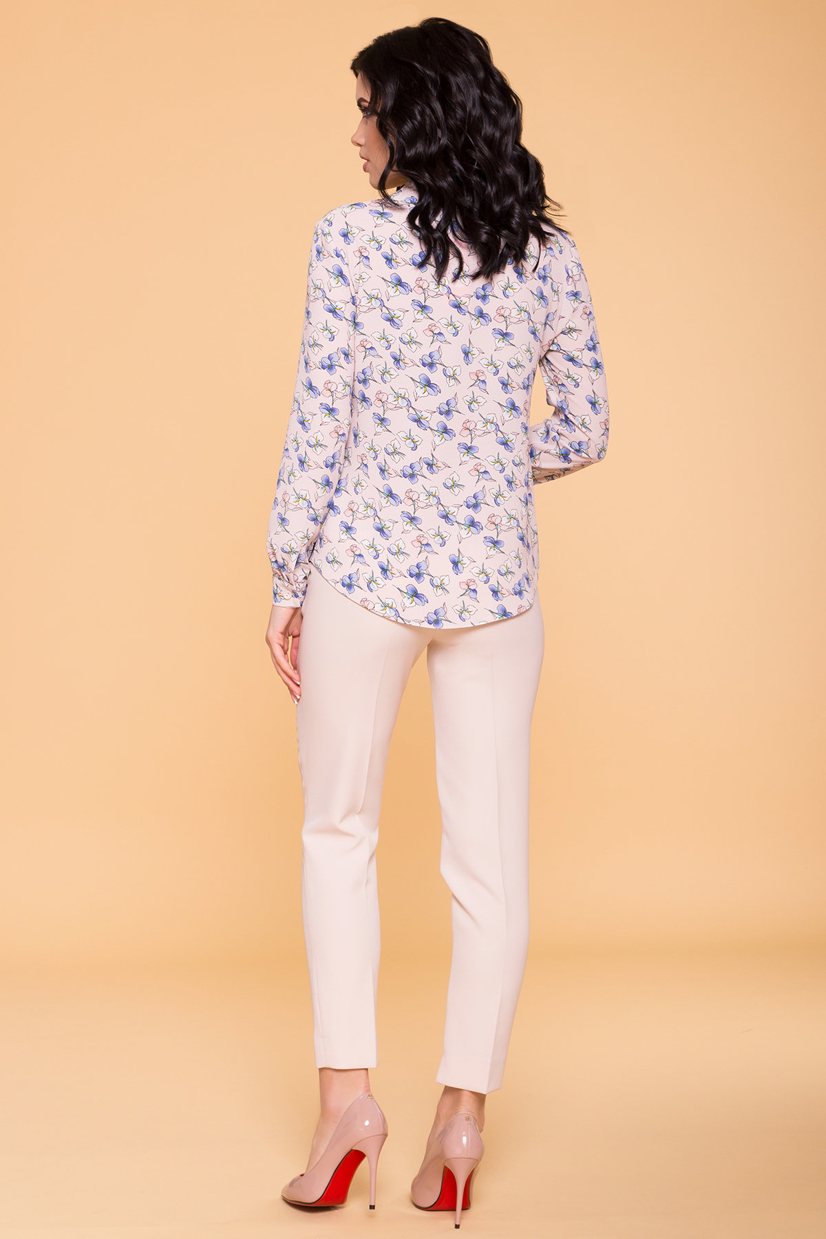 Рубашка Арсела 6790 АРТ. 41874 Цвет: Пудра/голубой ирис - фото 5, интернет магазин tm-modus.ru