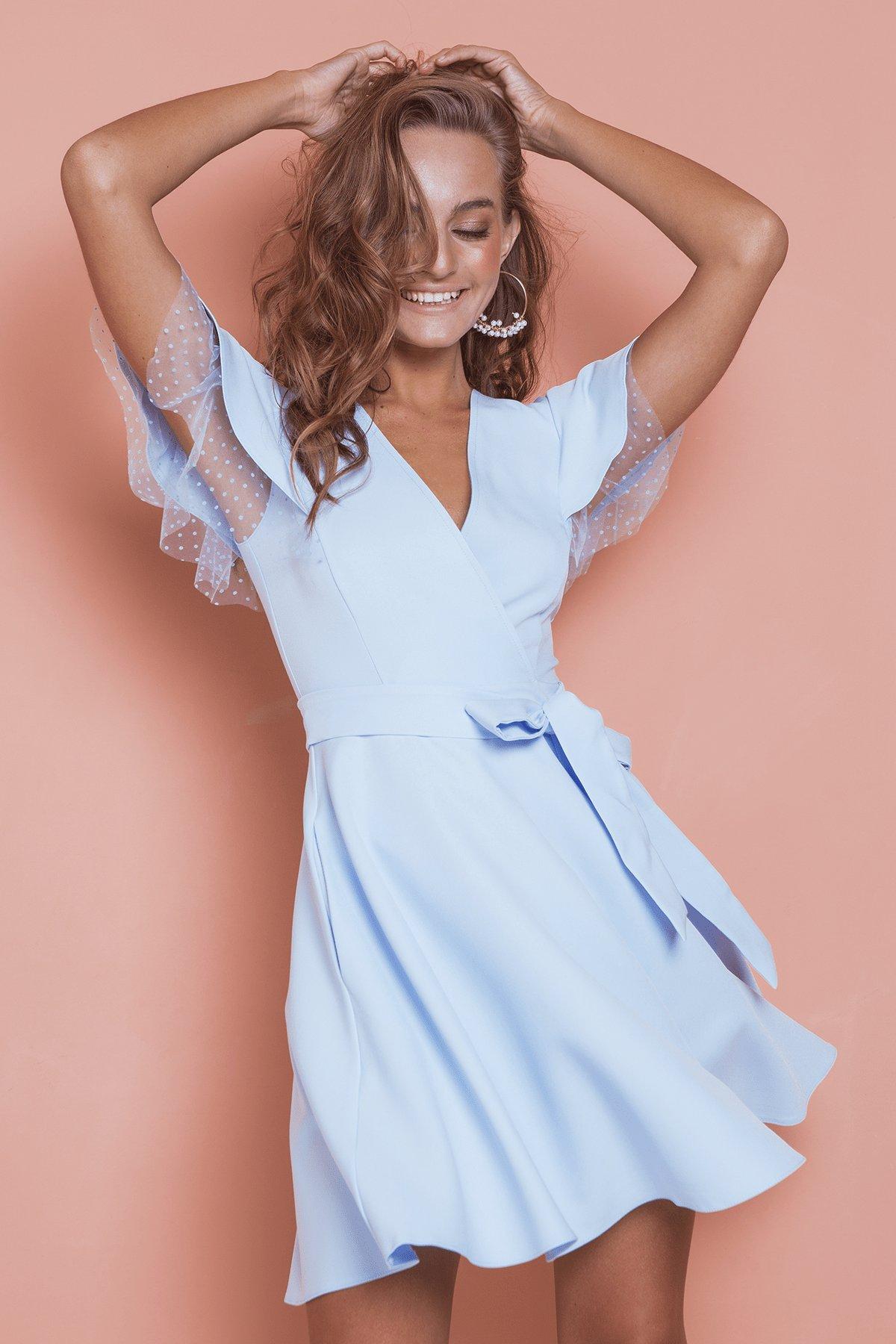 Платье оптом от производителя Modus Платье с воланами на плечах Милея 6788
