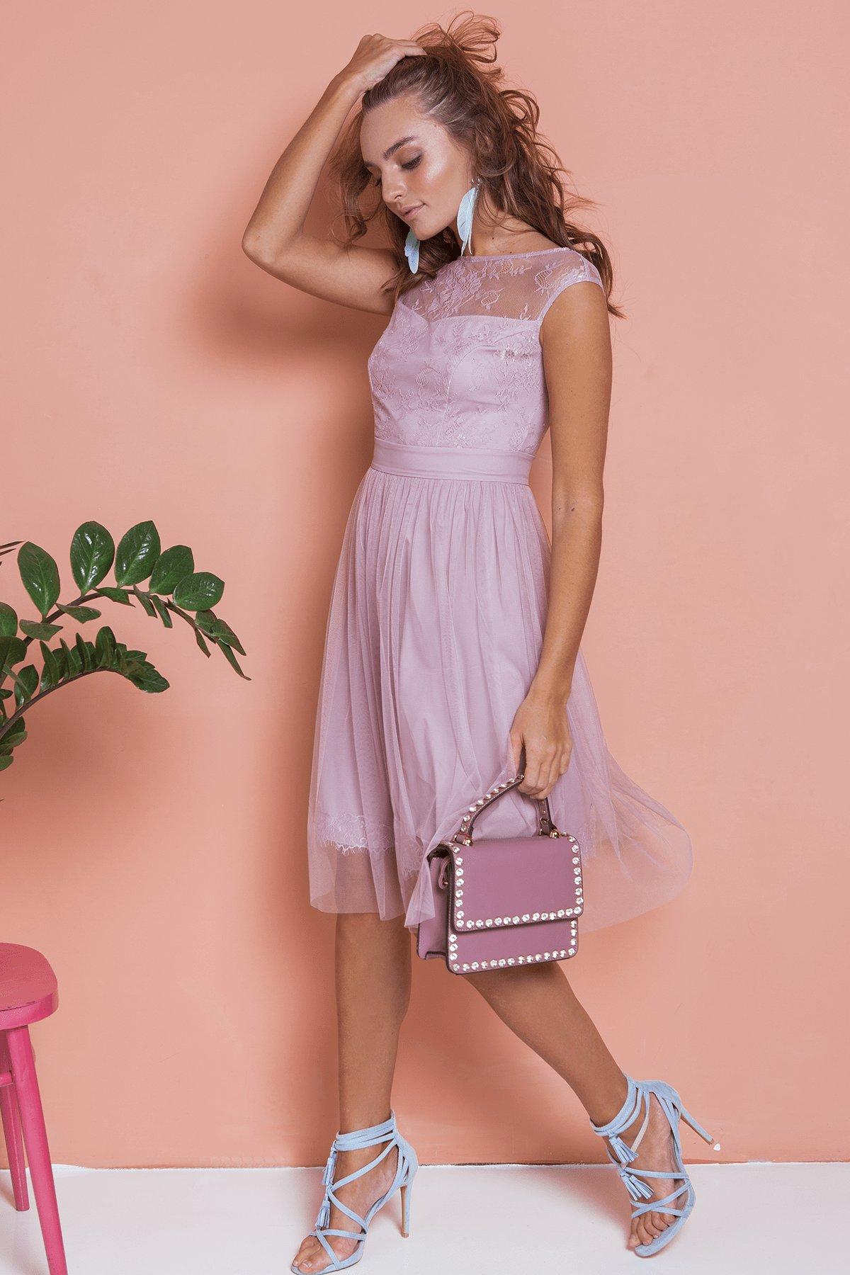 Платье Амур 6872 АРТ. 41986 Цвет: Серо-голубой/серо-голубой - фото 2, интернет магазин tm-modus.ru