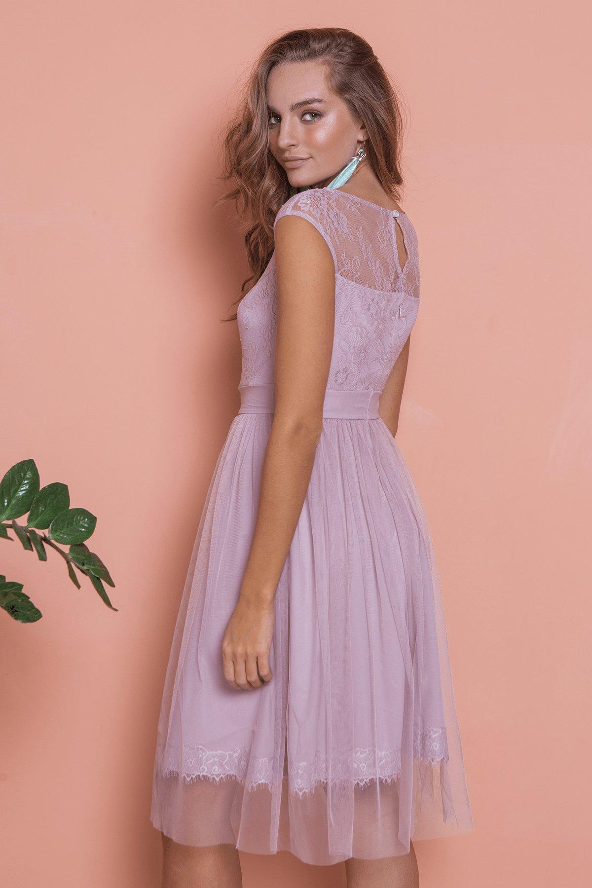 Платье Амур 6872 АРТ. 41986 Цвет: Серо-голубой/серо-голубой - фото 8, интернет магазин tm-modus.ru