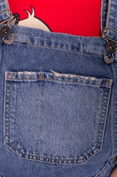 Сарафан джинс 7034 Цвет: Синий