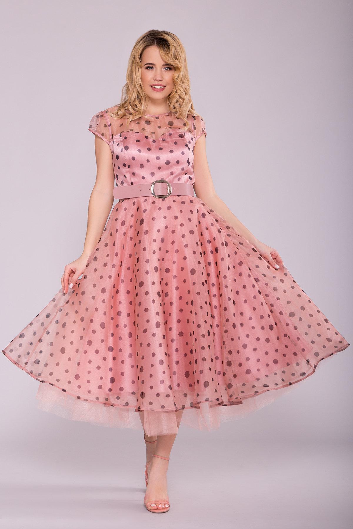 Купить платье оптом Украина Modus Стильное Платье в крупный горох 6947