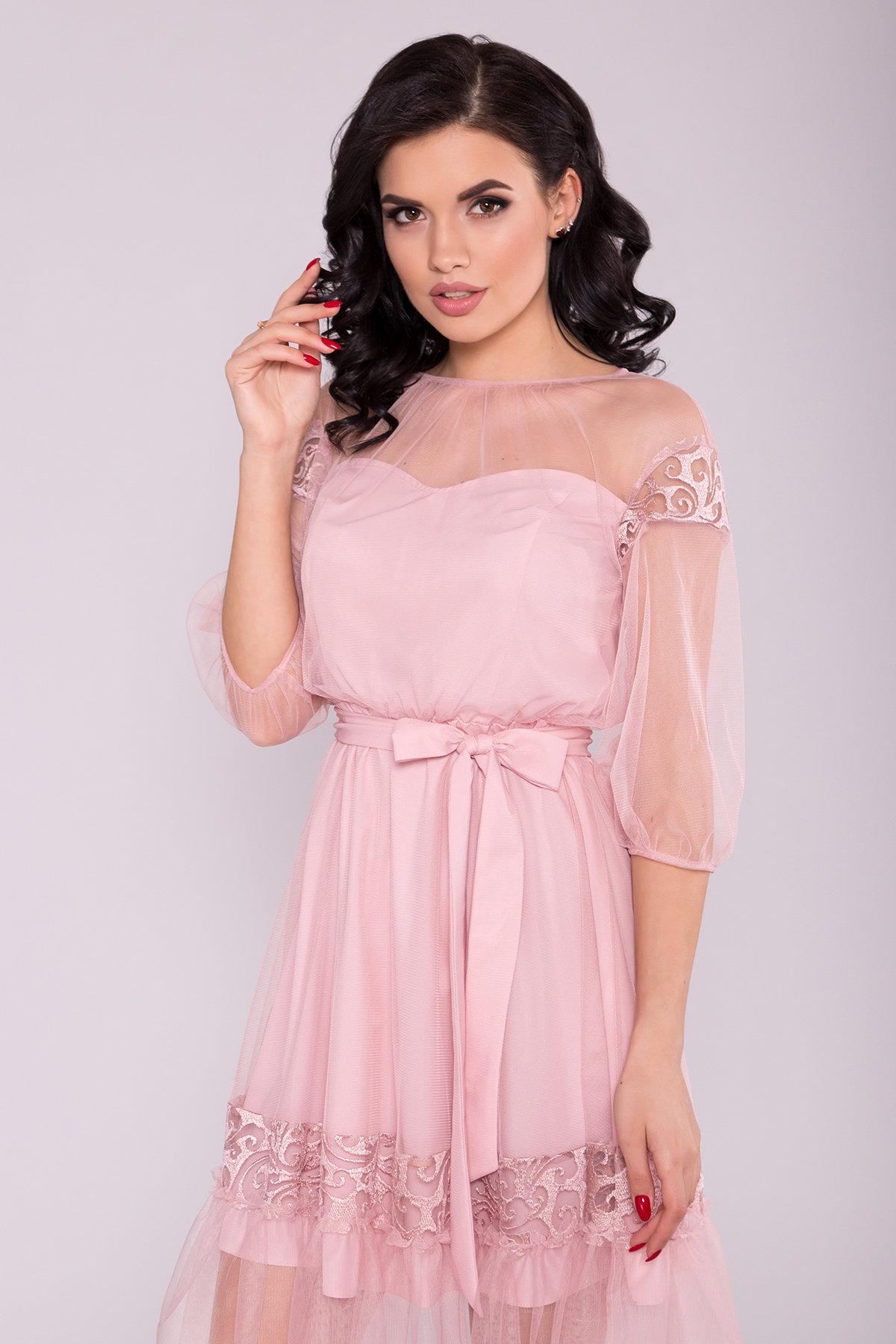 Платье Фая 6649 Цвет: Пудра светлая 11