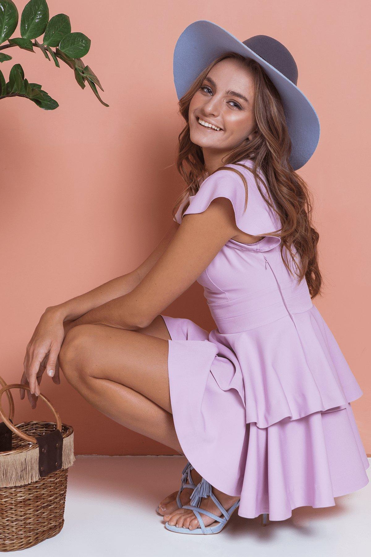 Платье Симур 6888 АРТ. 41987 Цвет: Пудра 3 - фото 7, интернет магазин tm-modus.ru
