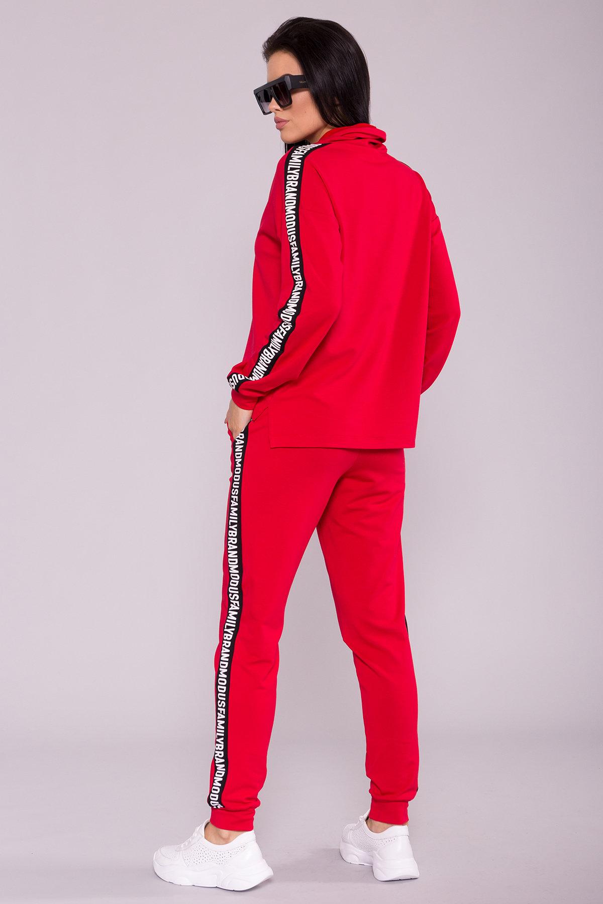 Костюм Лайн принт 6815 Цвет: Красный/черный