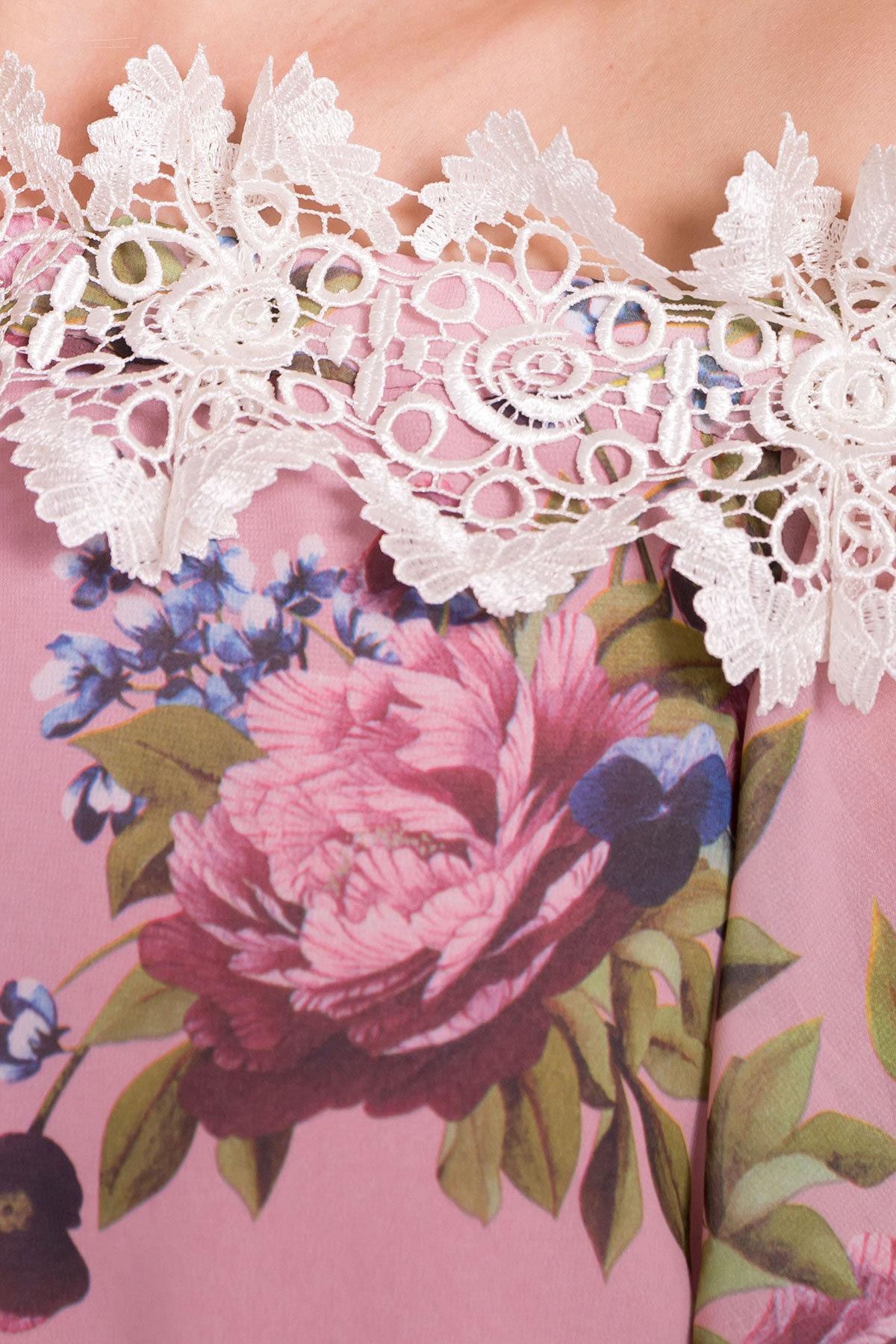 Платье Маргарет 6924 АРТ. 42294 Цвет: Пудра Пионы - фото 5, интернет магазин tm-modus.ru