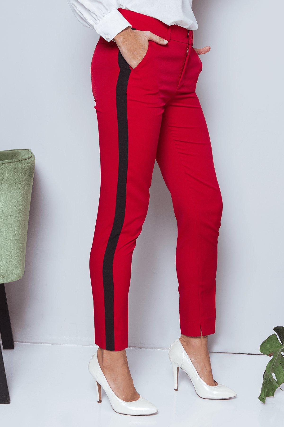 Брюки Макеба 3247 АРТ. 16723 Цвет: Красный/черный - фото 1, интернет магазин tm-modus.ru