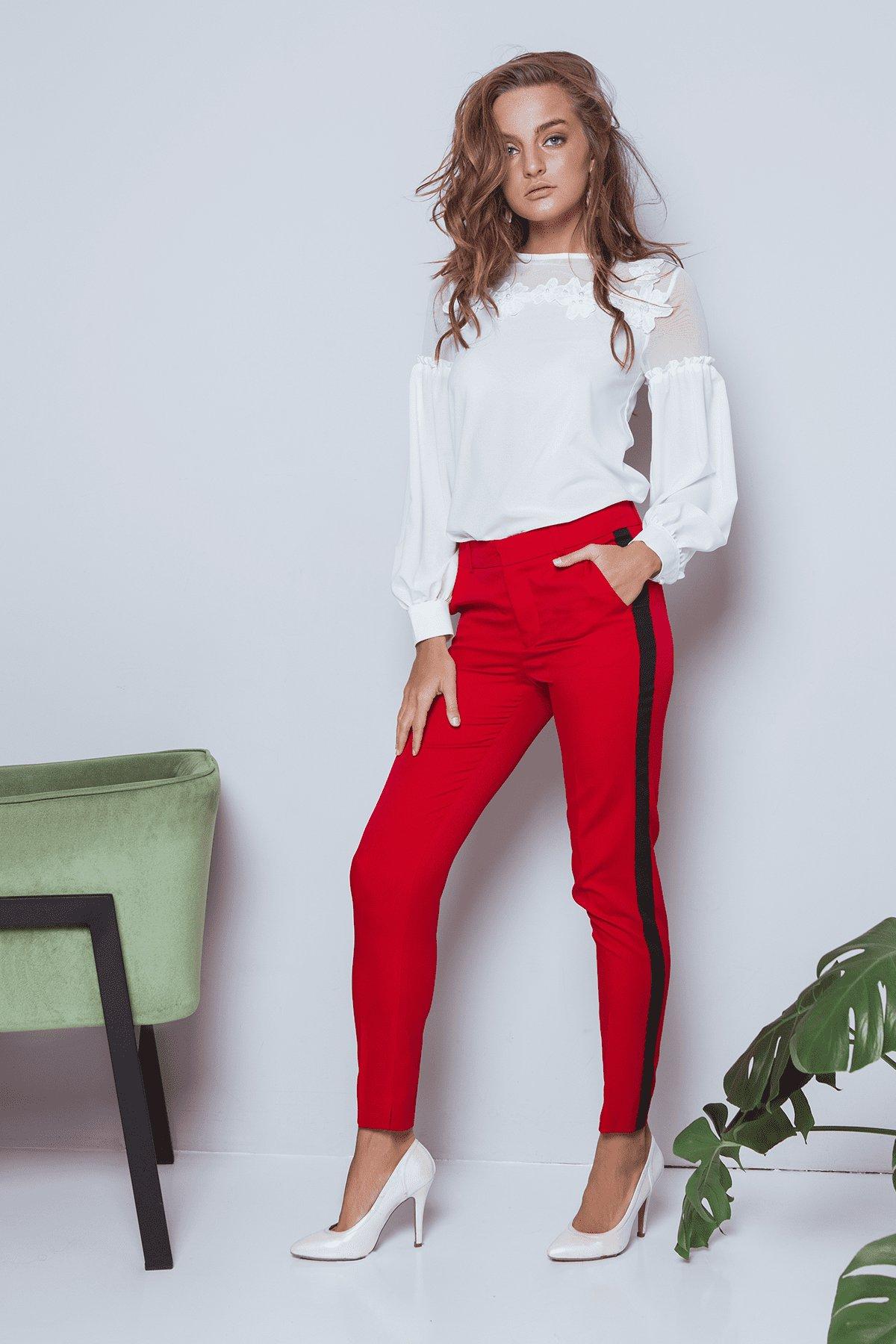 Брюки Макеба 3247 АРТ. 16723 Цвет: Красный/черный - фото 4, интернет магазин tm-modus.ru