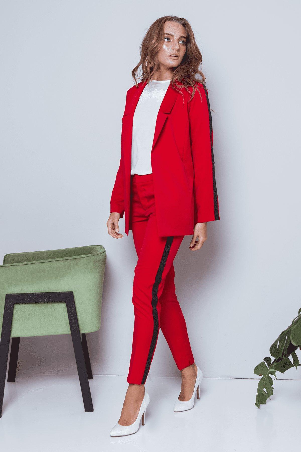 Брюки Макеба 3247 АРТ. 16723 Цвет: Красный/черный - фото 6, интернет магазин tm-modus.ru