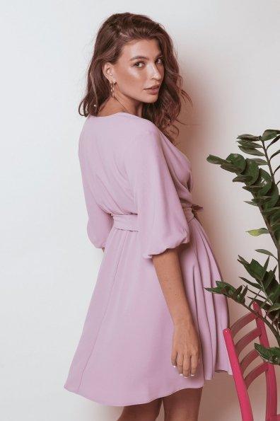 Платье с запахом Маринела 6518 Цвет: Серо-розовый 007