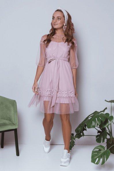 Платье Фая 6649 Цвет: Серо-розовый