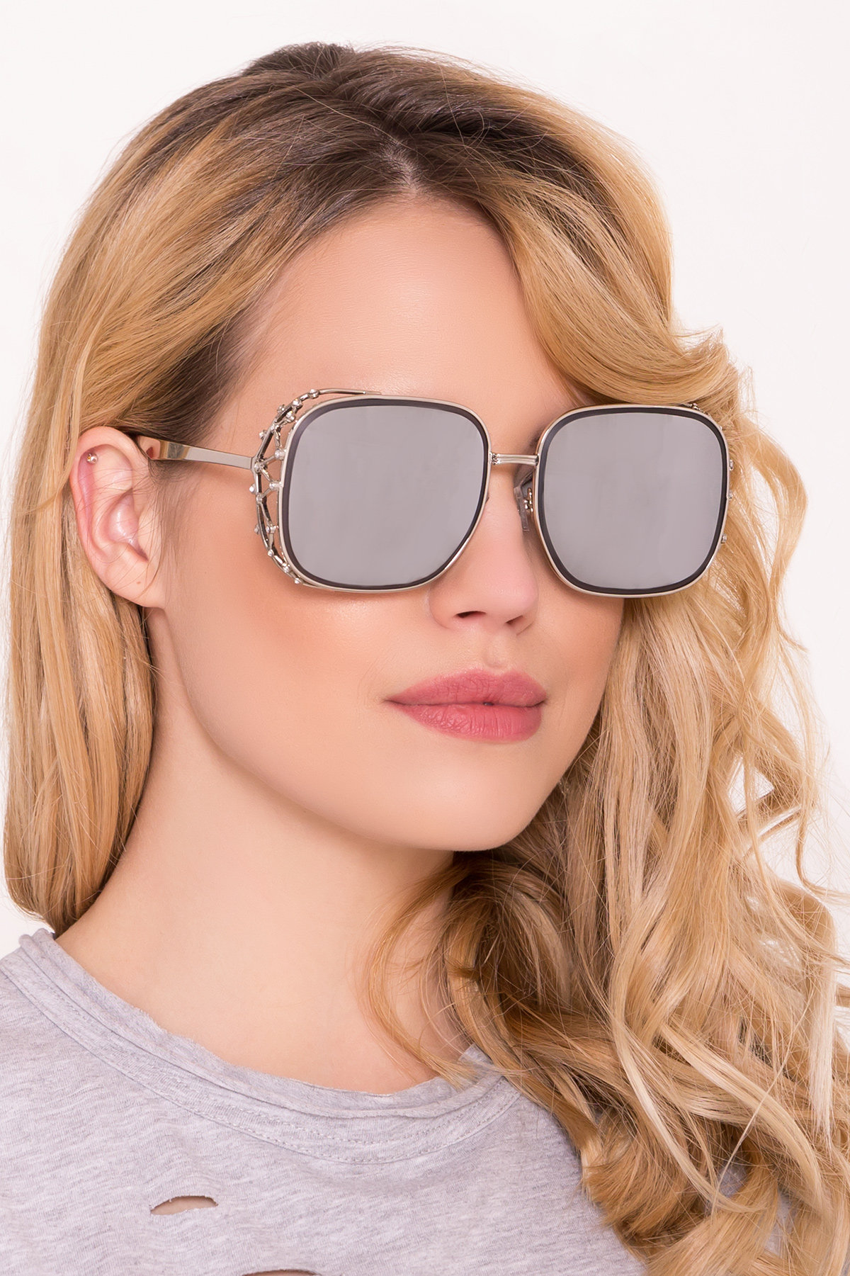 Очки солнцезащитные 7001 Цвет: Серебро