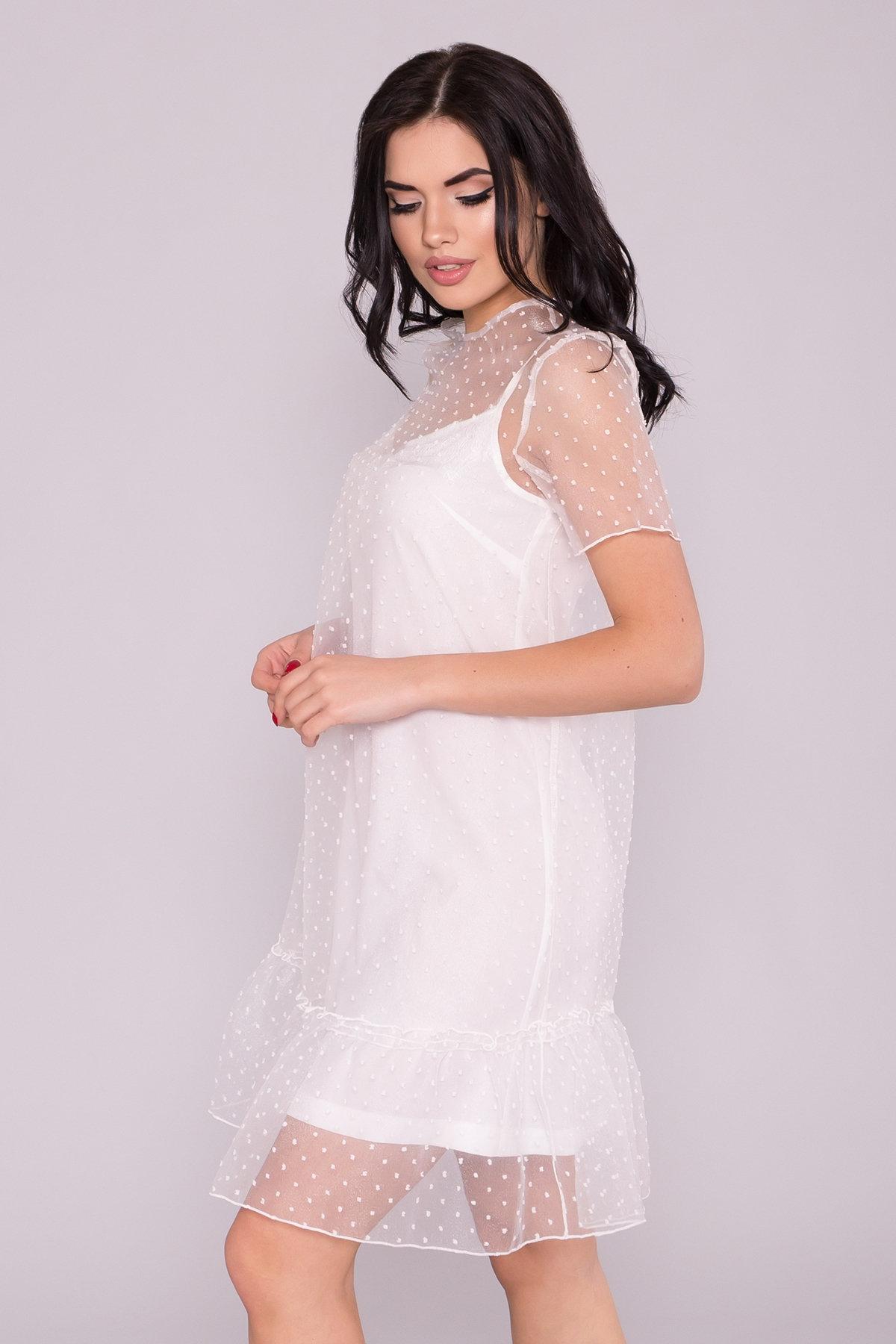 Платье Леонела 6960 АРТ. 42342 Цвет: Молоко 2 - фото 3, интернет магазин tm-modus.ru