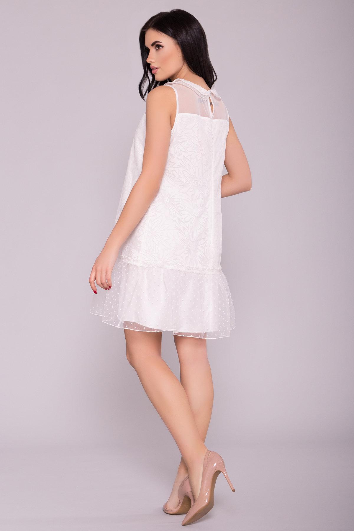 Платье Манила 6978 АРТ. 42369 Цвет: Молоко/мушка/Молоко - фото 2, интернет магазин tm-modus.ru