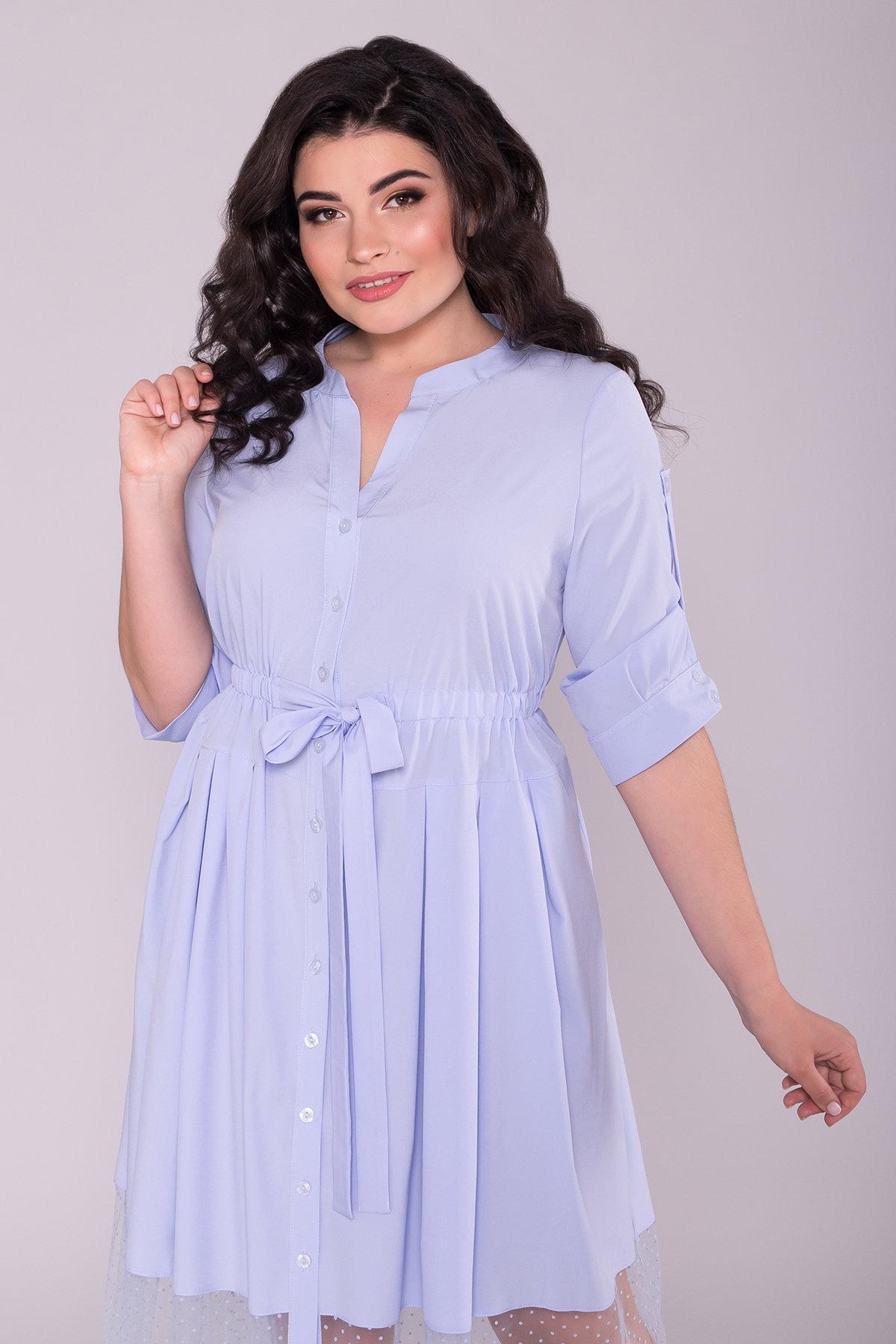 Платье Паула Donna 6937 Цвет: Голубой 7