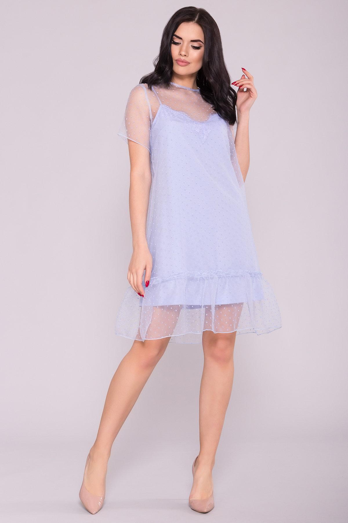 Платье Леонела 6960 Цвет: Голубой 7