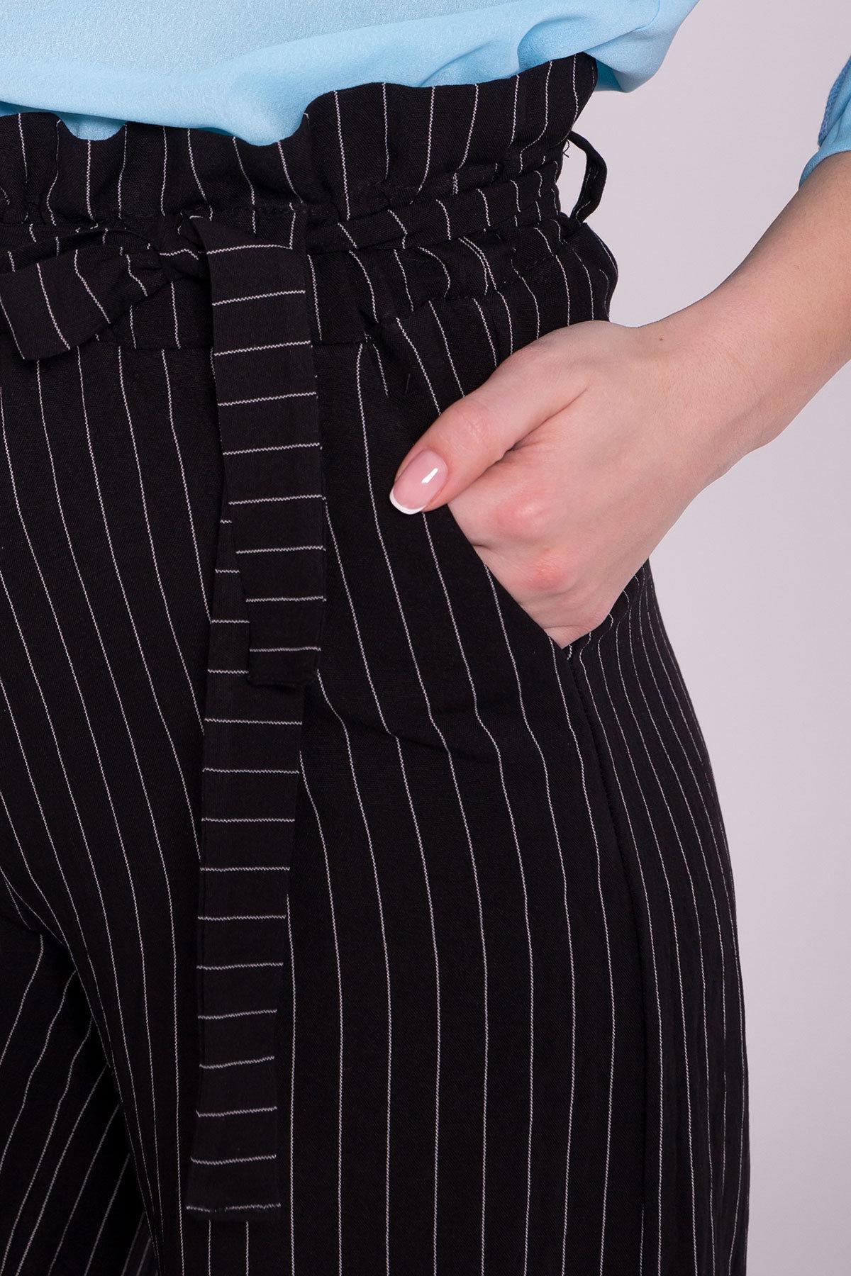Брюки в полоску Ким 7106 АРТ. 42433 Цвет: Черный/Молоко - фото 5, интернет магазин tm-modus.ru