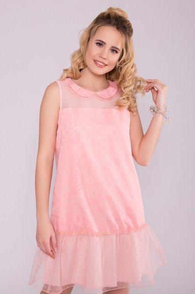 Платье Манила 6978 Цвет: Пудра/мушка/Пудра