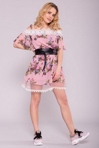 Платье Линда 6936 Цвет: Букет пудра