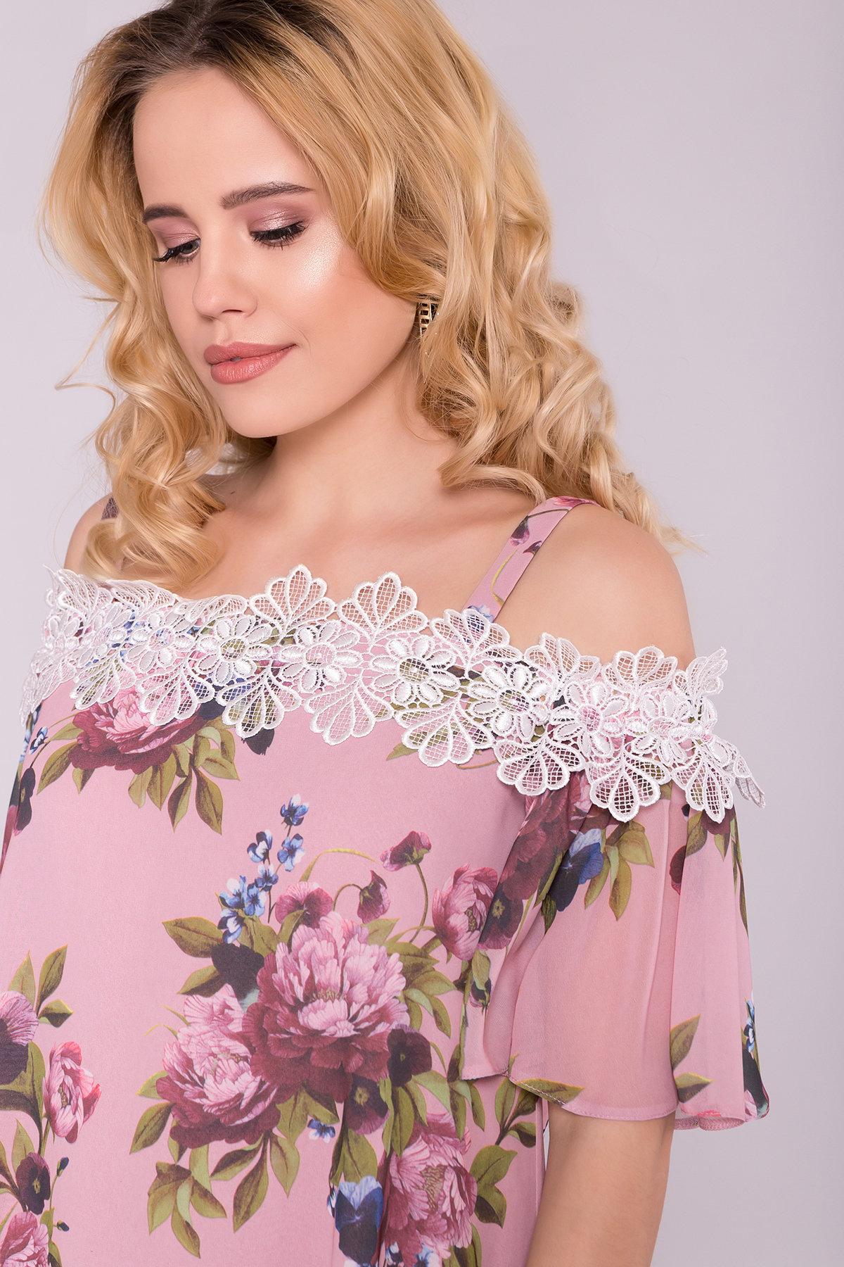 Платье Линда 6936 АРТ. 42296 Цвет: Букет пудра - фото 4, интернет магазин tm-modus.ru