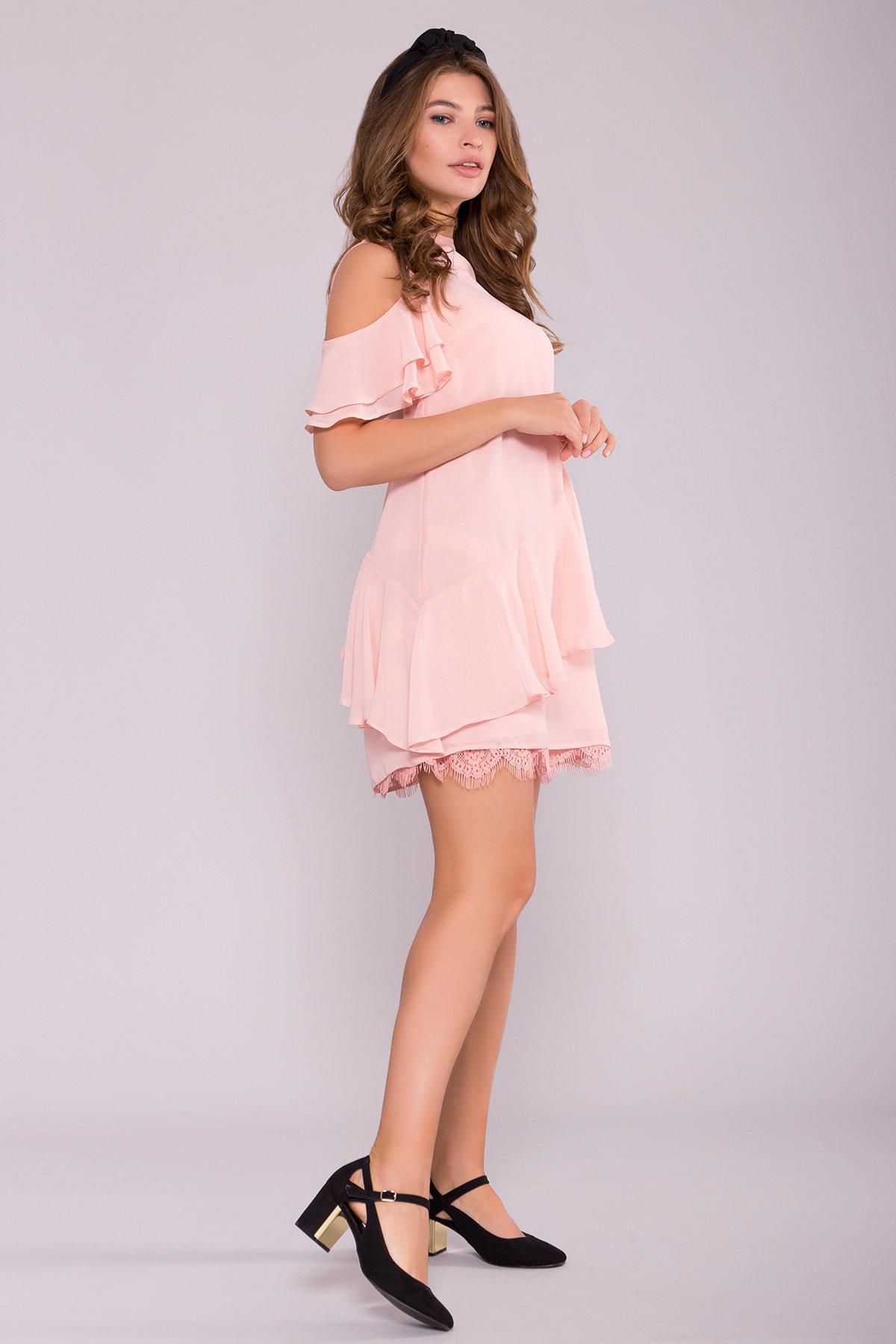 Платье Вито  7003 АРТ. 42310 Цвет: Пудра - фото 3, интернет магазин tm-modus.ru
