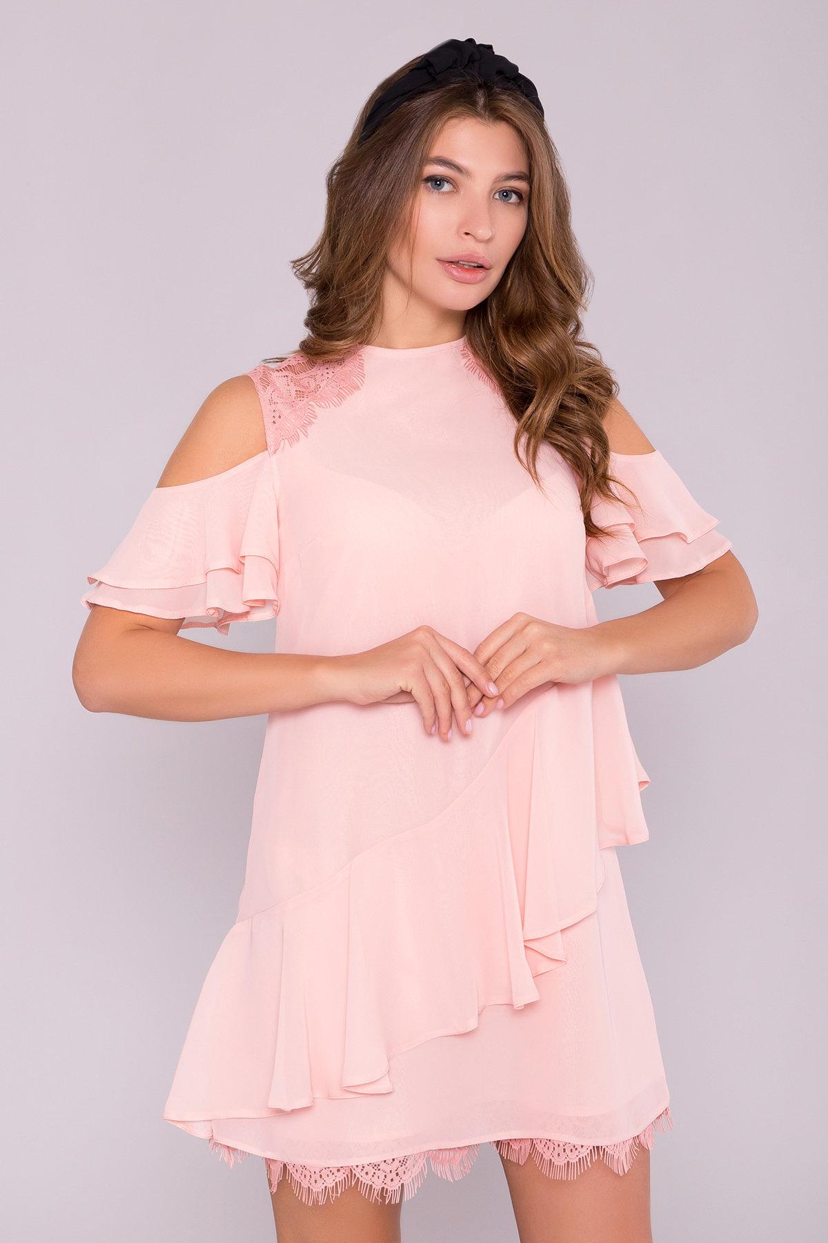 Платье Вито  7003 АРТ. 42310 Цвет: Пудра - фото 4, интернет магазин tm-modus.ru