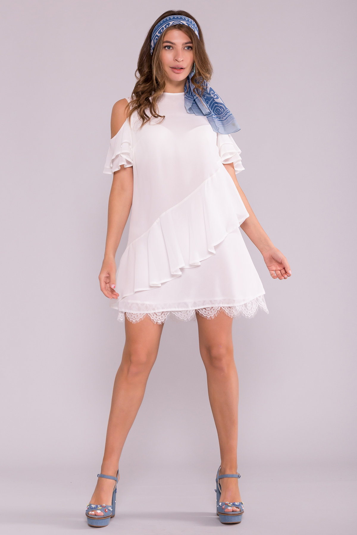 Платье Вито  7003 АРТ. 42411 Цвет: Молоко - фото 2, интернет магазин tm-modus.ru