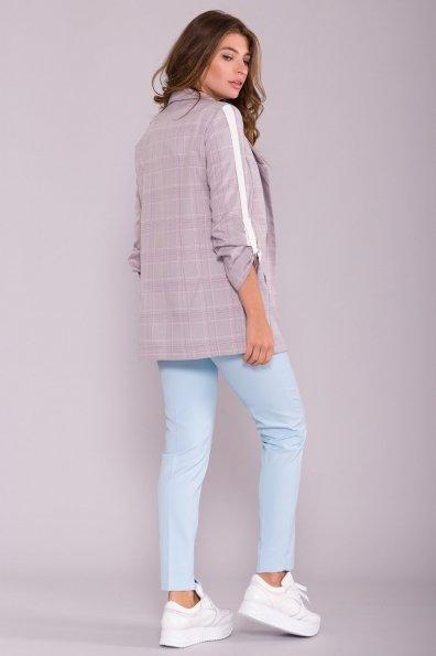 Жакет Макеба 6898 Цвет: Серый/молоко/голубой