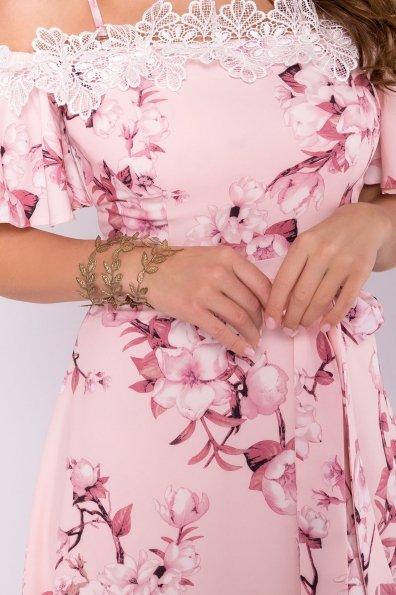 Платье Монриа 7056 Цвет: Цветы на ветке пудра темная