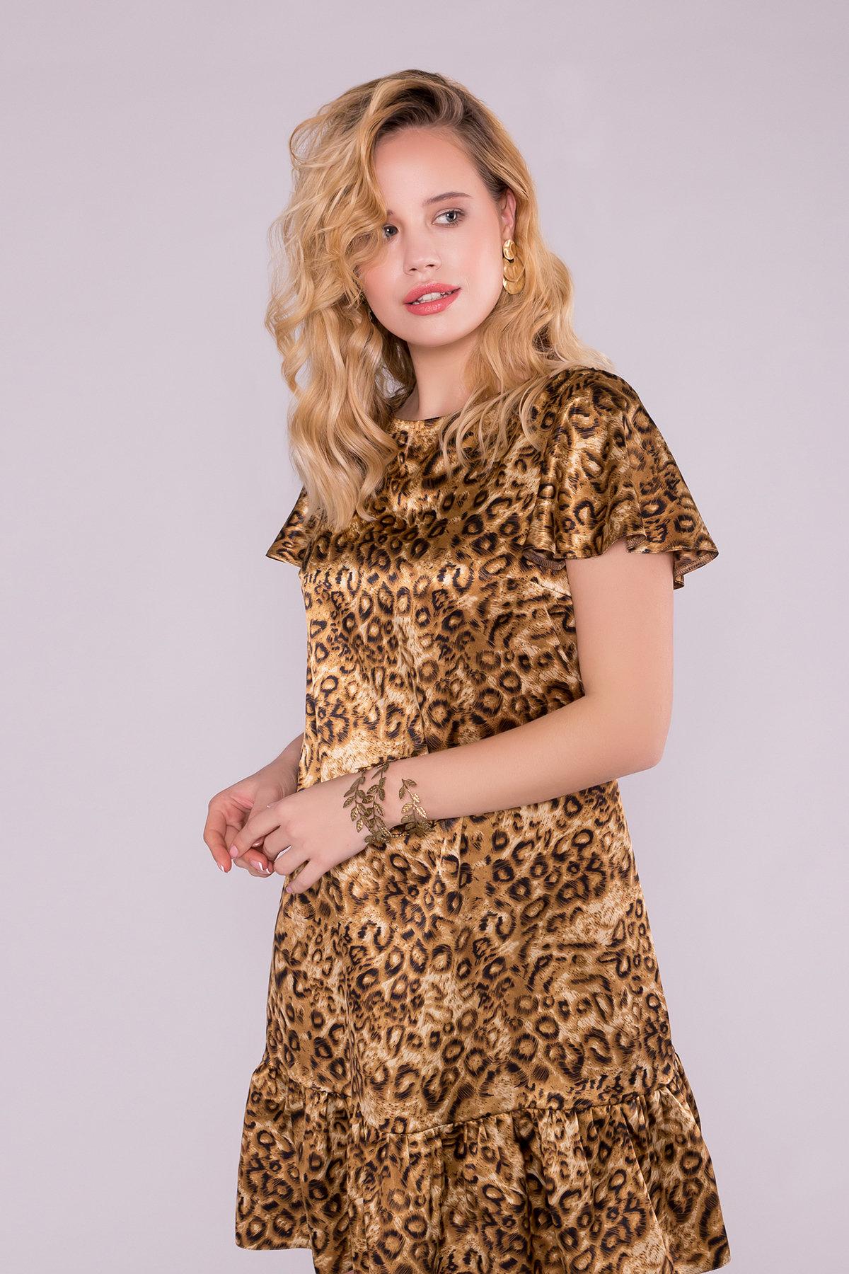 Платье Патрисия 6986 АРТ. 42518 Цвет: Леопард коричнев. - фото 3, интернет магазин tm-modus.ru