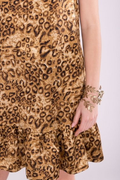Платье Патрисия 6986 Цвет: Леопард коричнев.