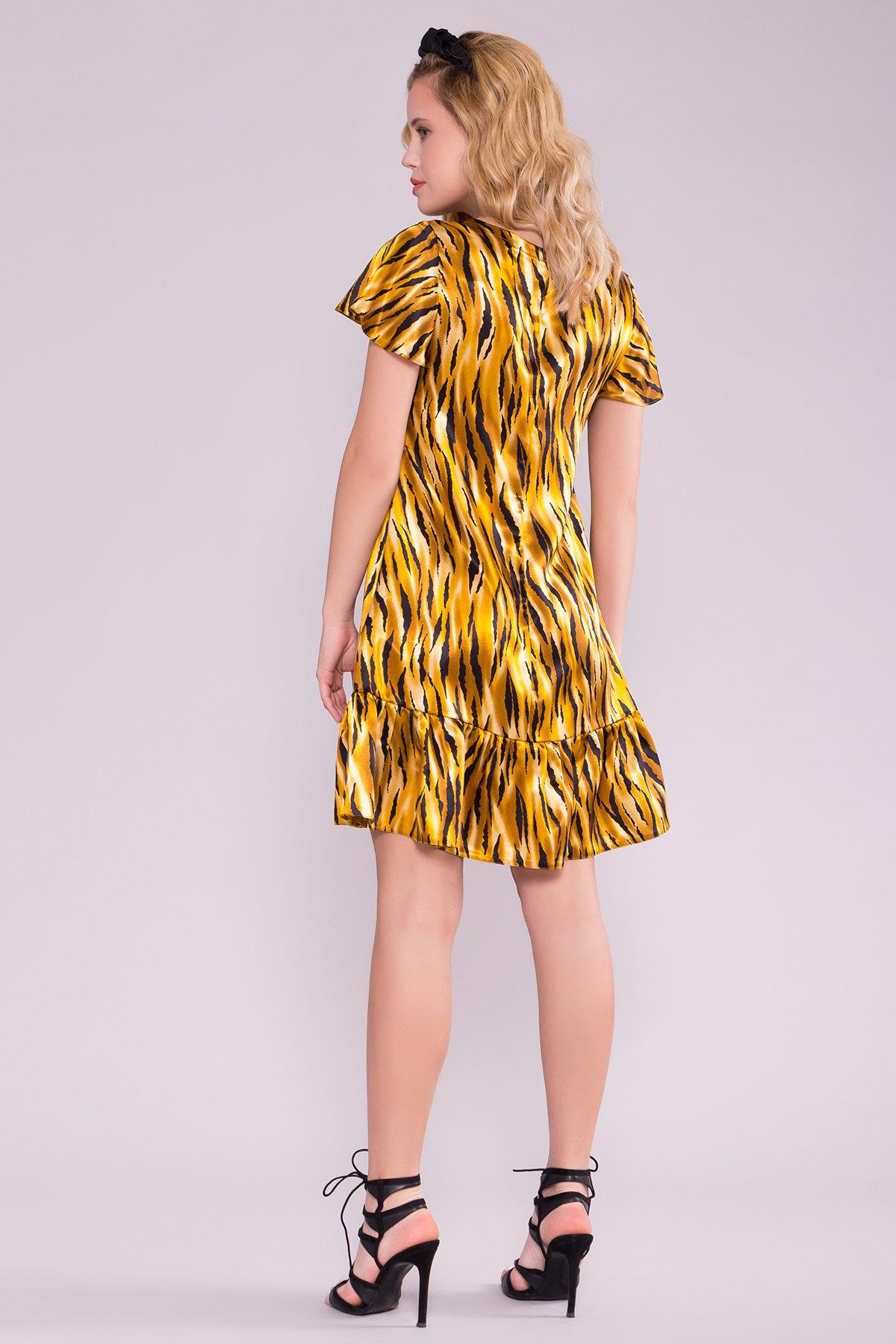 Платье Патрисия 6986 АРТ. 42519 Цвет: тигр оранж/черный - фото 2, интернет магазин tm-modus.ru