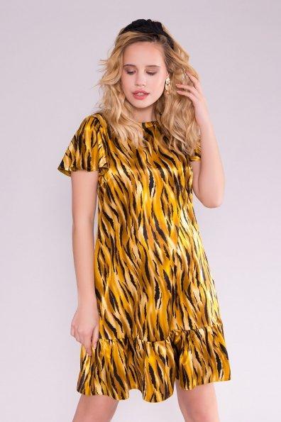Платье Патрисия 6986 Цвет: тигр оранж/черный