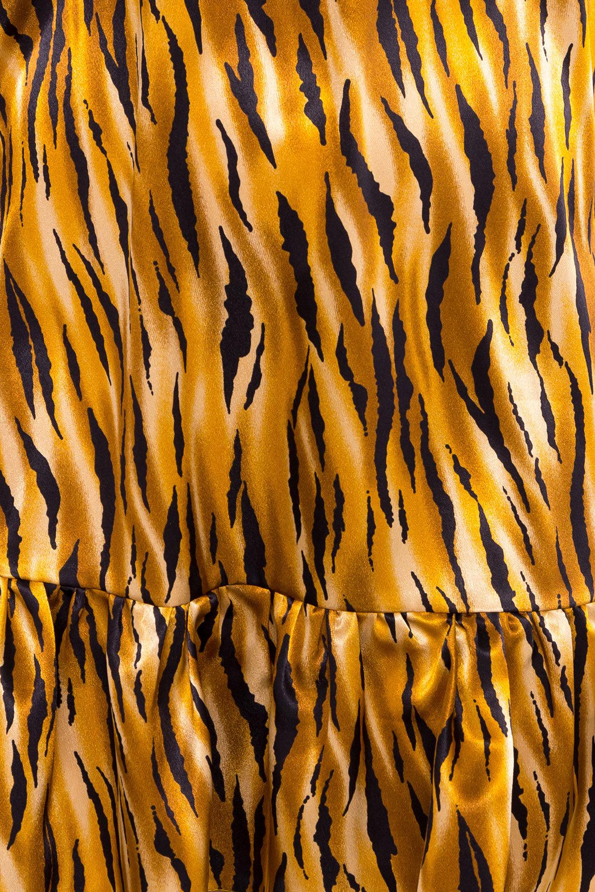 Платье Патрисия 6986 АРТ. 42519 Цвет: тигр оранж/черный - фото 4, интернет магазин tm-modus.ru