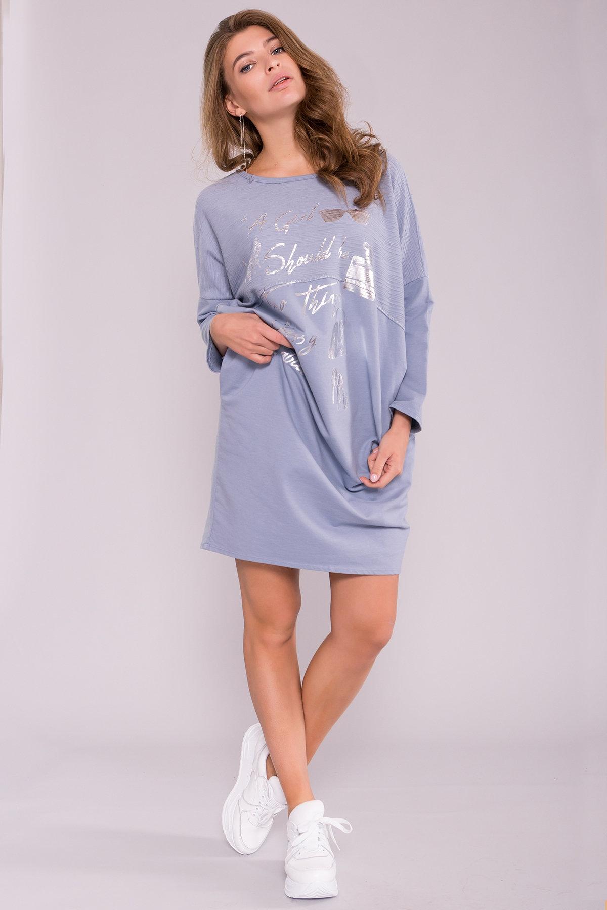 Платье 6718 Цвет: Голубой