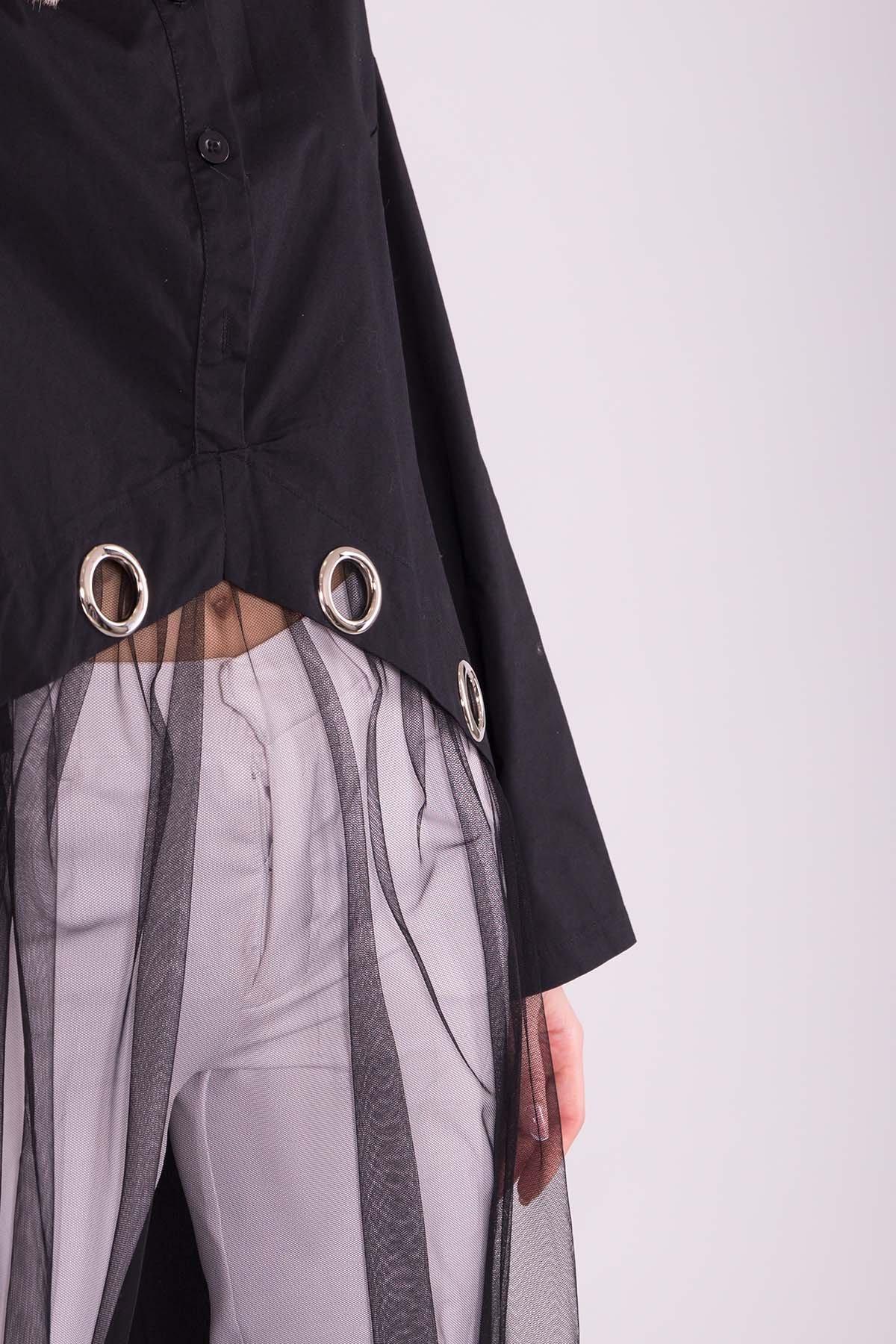 Черное Платье 7169 АРТ. 42592 Цвет: Черный - фото 4, интернет магазин tm-modus.ru