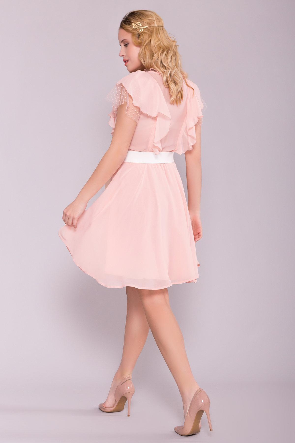Платье Дали 6992 АРТ. 42308 Цвет: Пудра - фото 3, интернет магазин tm-modus.ru