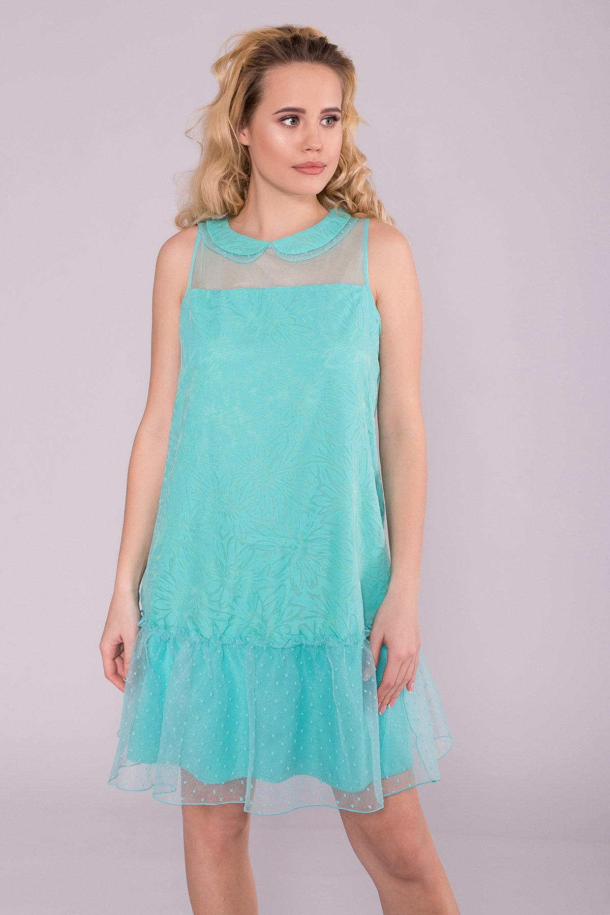 Платье Манила 6978 Цвет: Мята/мушка/мята