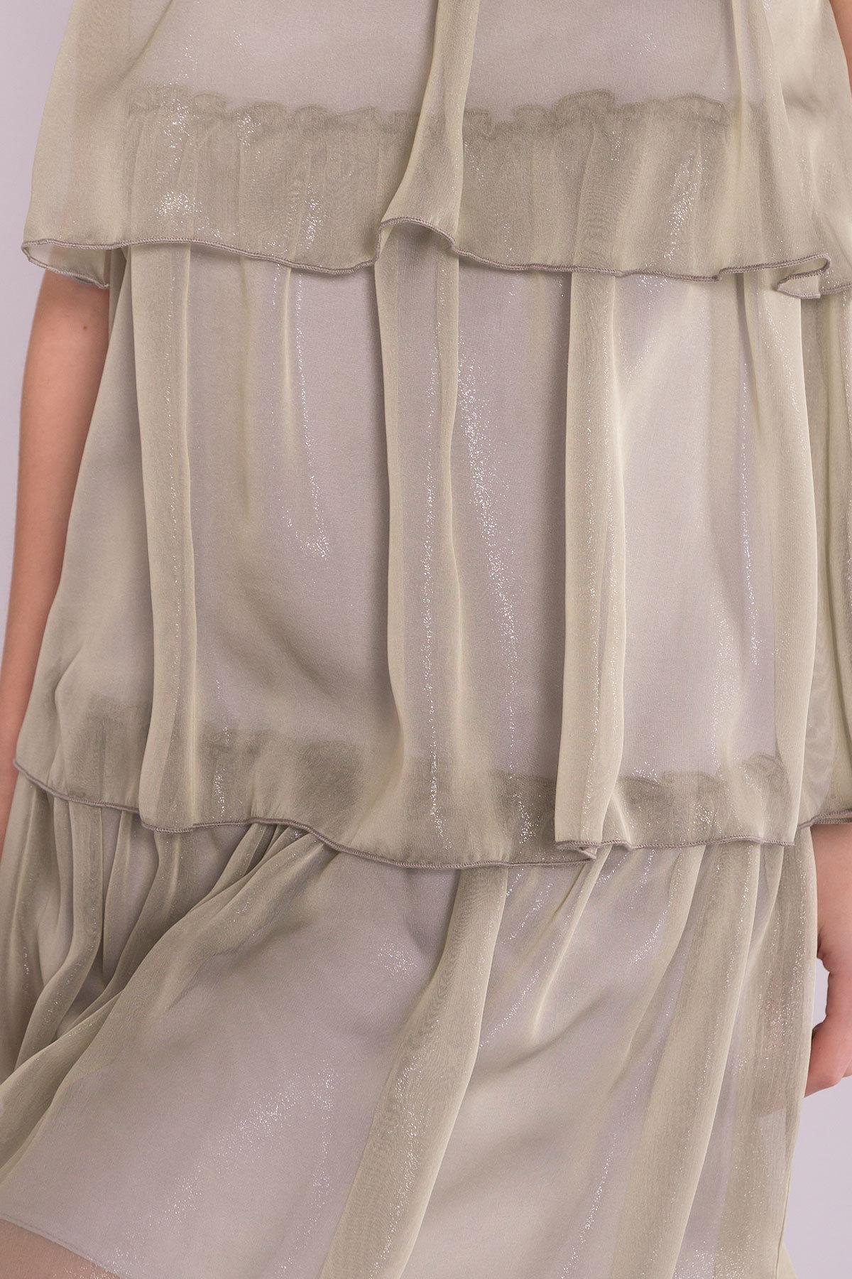 Перри платье из органзы 7067 АРТ. 42545 Цвет: Хаки - фото 4, интернет магазин tm-modus.ru