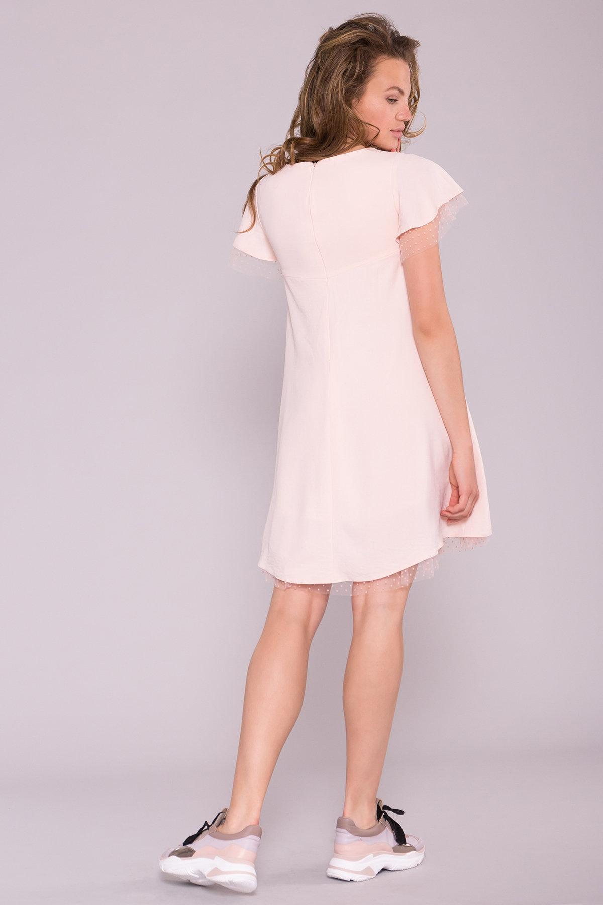 Платье Романтик 7154 АРТ. 42562 Цвет: Пудра 3 - фото 2, интернет магазин tm-modus.ru