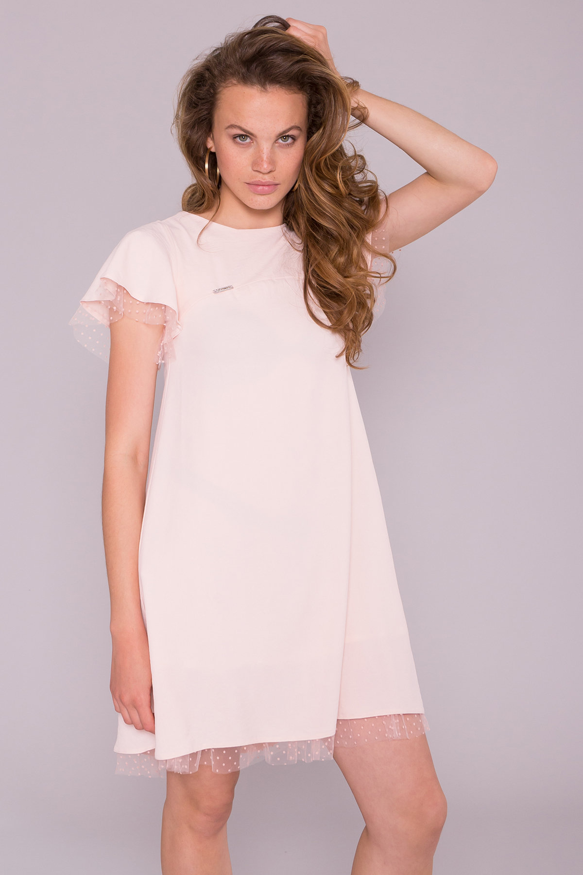 Платье Романтик 7154 АРТ. 42562 Цвет: Пудра 3 - фото 3, интернет магазин tm-modus.ru