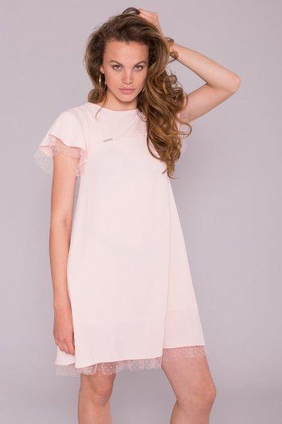 Платье Романтик 7154 Цвет: Пудра 3