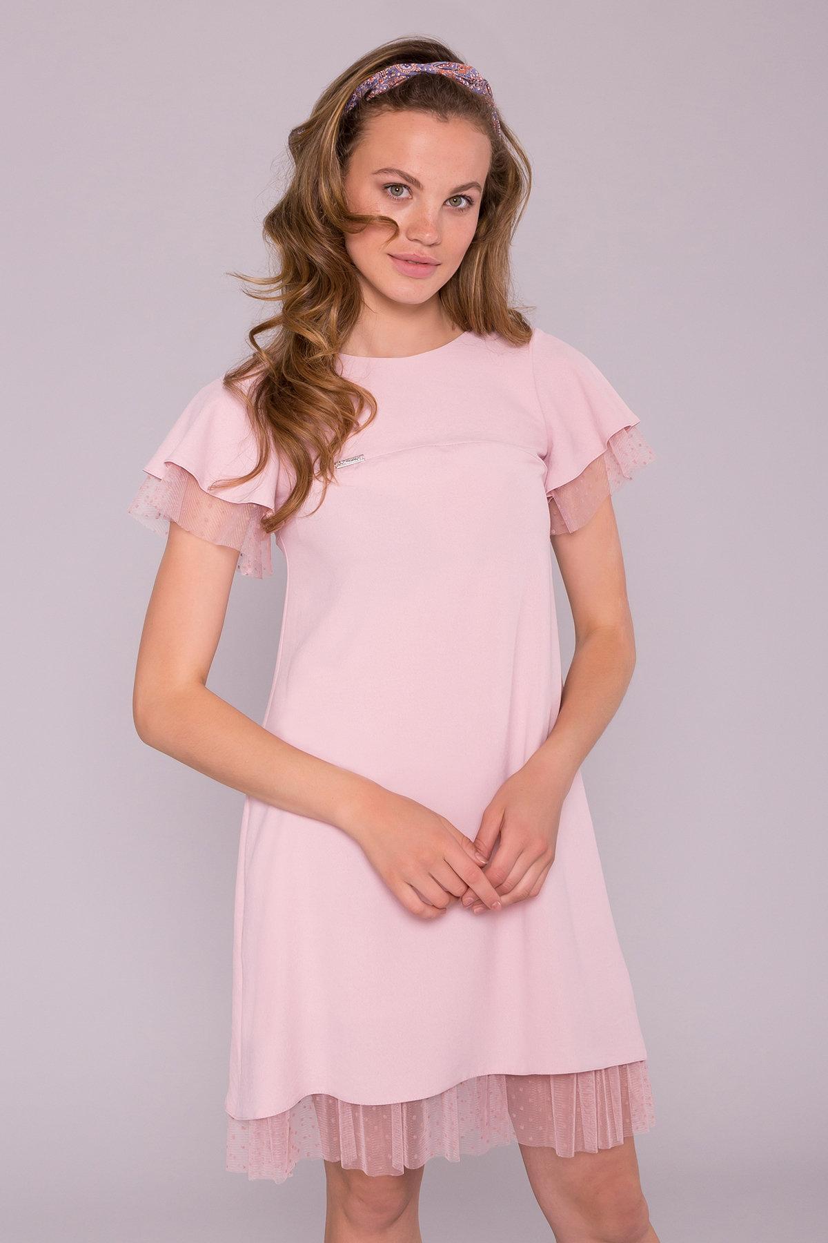 Платье Романтик 7154 АРТ. 42564 Цвет: Розовый 16 - фото 3, интернет магазин tm-modus.ru