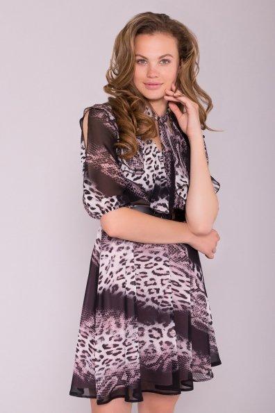Платье Блюз 7093 Цвет: Леоп абстр мол/чер